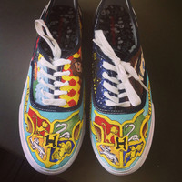 Harry Potter Potterhead fandom custom hand painted shoes
