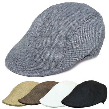 Mens Retro Baker Boy Peaked NewsBoy Country Outdoors Golf Hat Beret Flat Cap