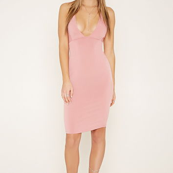Lace-Up Bodycon Cami Dress