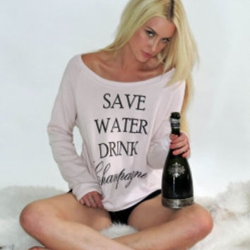 Save Water Drink Champagne Sweater