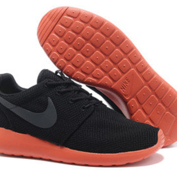 n019 - Nike Roshe Run (Black/Grey/Orange)