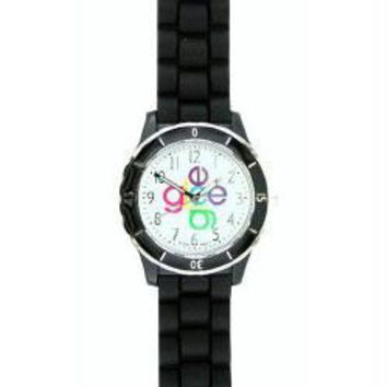 Glee Logo Watch Crisscross Logo with Black Band