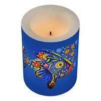 Tropical Fish Flameless Candle