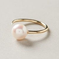 Pearl Cuff Ring by White/Space Gold