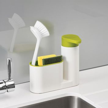 Kitchen and Bathroom Multi-function Liquid Soap Dispenser Sink Soap Dispenser and Toothbrush Organizer