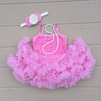 Petti skirt. Baby pettiskirt. Pink birthday tutu dress. Baby girl 1st birthday outfit. Birthday tutu. Cake smash outfit. 2nd birthday