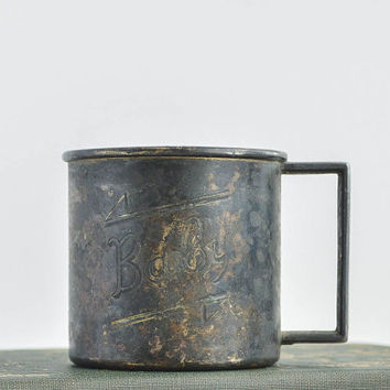 1880's Antique Metal Baby Cup