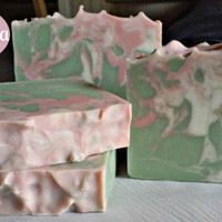 Handmade Pink Magnolia Soap/ Homemade Soap/ Handmade Soap/ Skin Care/ Spa/ Moisturizer/ Beauty/ Natural/ Gifts/ Dry Skin/ Psoriasis/ Eczema