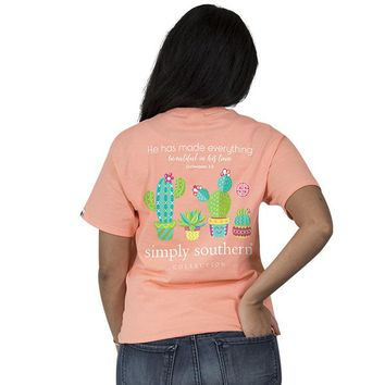 "Youth Simply Southern ""Cactus"" Short Sleeve Tee"