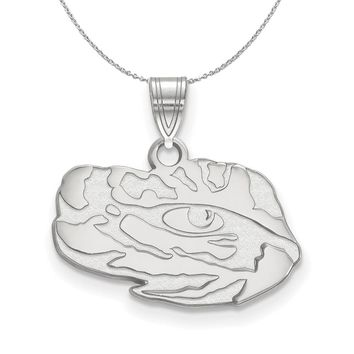 NCAA Sterling Silver Louisiana State Small Pendant Necklace