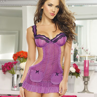 Romantic Passion Apron Babydoll