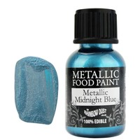 Midnight Blue Metallic Edible Paint RD