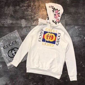 PEAPOK3 Gucci Flowers Embroidery Top Pullover Sweater Sweatshirt Hoodie