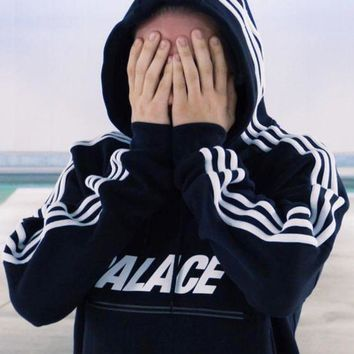 PALACE Long Sleeve Hooded Sweater Jacket