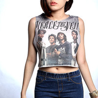 Pierce the Veil Hardcore T Shirt Crop Top Tank by HowDoiRock