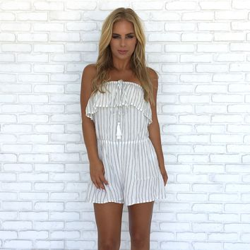 Lounge By The Pool Strapless Romper