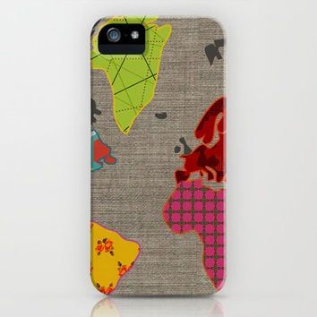 Simi's Map of the World iPhone Case by Simi Design