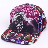 Trendy Winter Jacket The Joker Fashion Printed Hat Men Adult Brand Baseball Caps Hip Hop Casual Snapback Cap AT_92_12