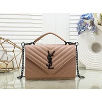 YSL Hot Selling Fashion Ladies Coloured Single Shoulder Bag Shopping Bag Khaki N-MYJSY-BB