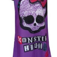 Monster High Classic Logo Purple Nightgown for Little Girls