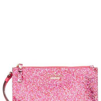 kate spade new york 'glitter bug - slim bee' wristlet | Nordstrom