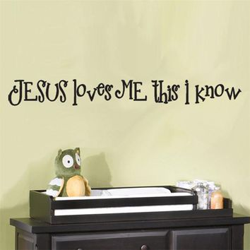 Jesus Loves Me Christian Quote Wall Sticker