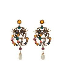 Crystal-embellished GG clip-on earrings | Gucci | MATCHESFASHION.COM UK