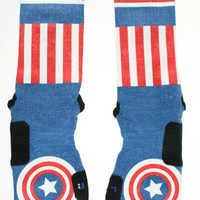 Captain America Custom Nike Elite Socks