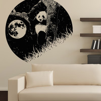 Vinyl Wall Decal Sticker Panda and the Moon #OS_AA1556