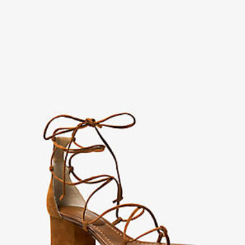 Ayres Suede Lace-Up Sandal | Michael Kors