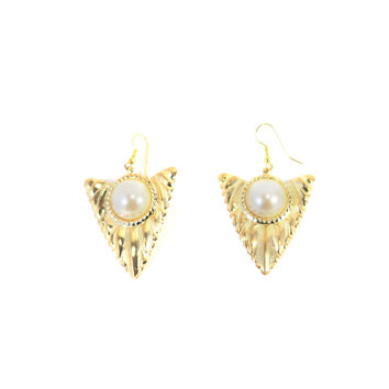 Triangular Truffles Vintage Earrings