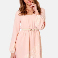 Have I Told You Lace-ly? Peach Lace Dress