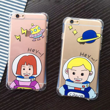 Iphone 6/6s Hot Deal On Sale Stylish Hot Sale Cute Iphone Couple Cartoons Apple Phone Case [8864219399]