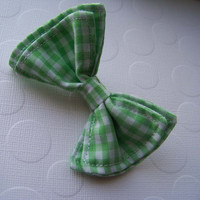 Lime Green Gingham Bow Tie, Bow Tie, Bowtie, Doctor Who Baby, Toddler Bow Tie, Newborn Bow Tie, Mens Bow Tie, Boys Bow Tie, Baby Bow Tie