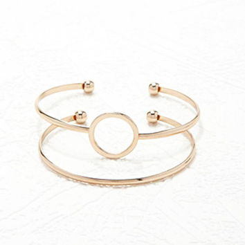 Cutout Circle Cuff Set - Womens accessories, jewellery and bags | shop online | Forever 21 - 1000147004 - Forever 21 EU English