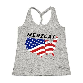 Merica Women's Cosmic Twist Back Tank Top