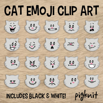 Cat Emoji Clip Art, Kitty Clip Art, Facial Expressions, Smiley Face Clip Art, Emoticon Clip Art, Classroom Pet, Cute Cat Download, Cat Faces