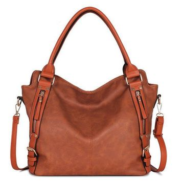 Slouch Vintage Leather Bag / Brown