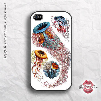 Jellyfish (Discomedusae) by artist Ernst Haeckel  - iPhone 4 Case, iPhone 4s Case and iPhone 5 case