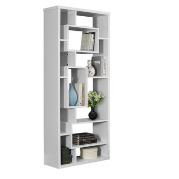 "White Hollow-Core 72""H Bookcase"