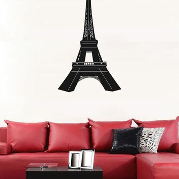 ik1871 Wall Decal Sticker Eiffel Tower Paris France Landmark living bedroom