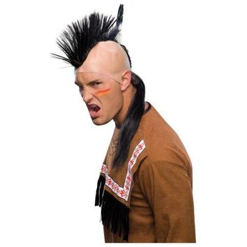 Mohawk Wig Mohican Indian Brave Costume Accessory Adult Halloween