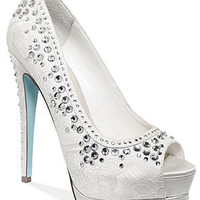 Something Blue by Betsey Johnson Shoes, Vow Platform Evening Pumps - Evening & Bridal - Shoes - Macy's