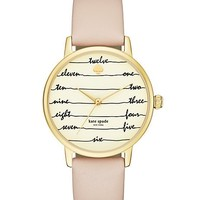 vachetta chalkboard metro watch | Kate Spade New York