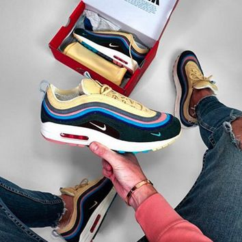 NIKE AIR MAX 1/97 VF SW Sneakers corduroy mixed with rainbow men and women's shoes