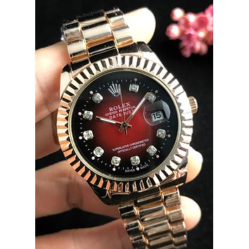 Rolex 2019 new men and women models wild waterproof quartz watch #6