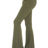 The Best Basic Flare Pant In Olive