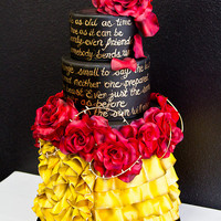 Beauty and the Beast Inspired Disney Wedding Cake |