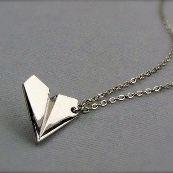 One Direction - PAPER AIRPLANE - Harry Styles Inspired Unisex Paper Airplane Necklace Directioner 1D UK Boy Band - Ready To Ship