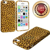 myLife Yellow Cheetah Spots Design (Flex Gel Silicone) Sleek Case for Apple iPhone 5C Generation Touch Phone (Soft Flexible External Shock Absorbing Gel)